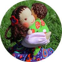 ručně šitá panenka vyrobená s láskou