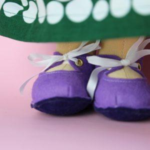 Velká látková panenka šitá na zakázku, zrzavá panenka z přírodních materiálů, ekopanenky, panenky s duší