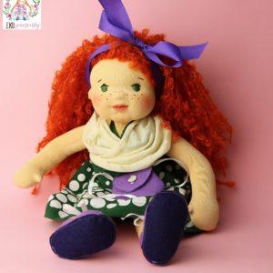 Zrzavá rebelka, ručně šitá panenka, ekopanenky, panenky s duší