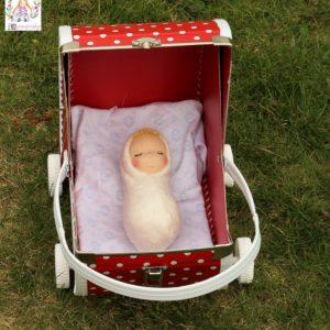 Látkové miminko s mohérovou čupřinou z biobavlny a ovčí vlny, ekopanenky.cz/ekopanenky-2, panenky s duší