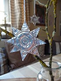 Hvězda z kalíšku od čajové svíčky. Recyklační inspirace.