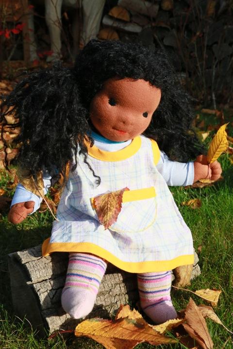 černošská holčička - baculatá panenka