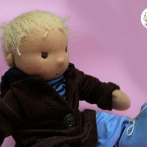 Blonďatý klouček batole, látková panenka na zakázku, ekopanenky, panenky s duší