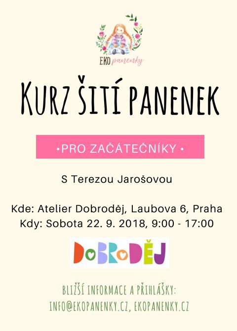 Pozvánka na kurz šití panenek pro začátečníky 22. září 2018
