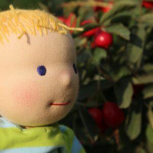 detail obličeje wladorfské panenky, ekopanenky