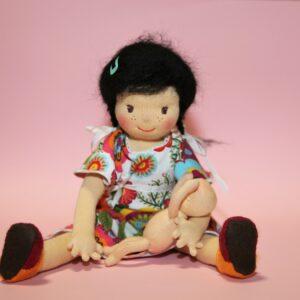 Panenka slečinka s miminkem, mohérové vlásky, ekopanenky, panenky s duší