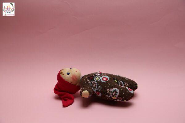 Skřítek z poslední zbytečku, ekopanenky, panenky s duší, waldorfská panenka, ručně šitá panenka, panenka plněná vlnou