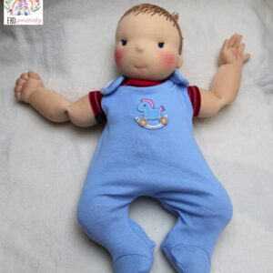 Velké miminko, ručně šitá látková panenka, waldorfská panenka, ekopanenky