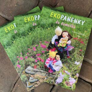 Ekopanenky do domečků, kniha s návody na ušití maličké panenky