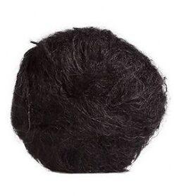 černá mohérová přáze na vlásky, na vlasy panenky