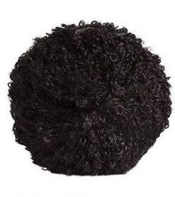 černá mohérová příze bouclé WKna vlásky panenek