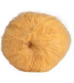 žlutá blond mohérová příze na vlasy panenek