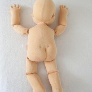 Fyzio panenka, panenka pro výuku vojtovy metody a dalších rehabilitačních technik, 50 cm vysoká látková panenka, ekopanenky.cz