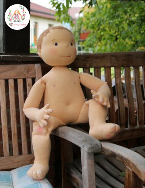 Fyzio panenka, na zakázku, látková panenka, hadrová panenka pro výuku akupunktury, ekopanenky, Tereza Jarošová