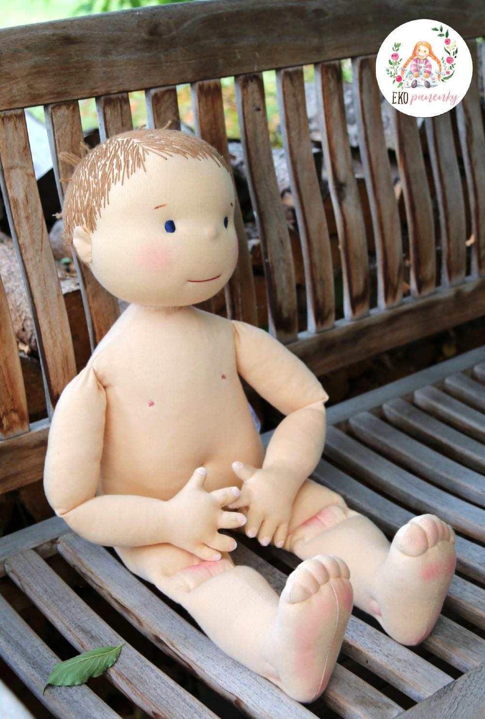 Fyzio panenka na zakázku, látková panenka k výuce čínských masáží a akupunktury