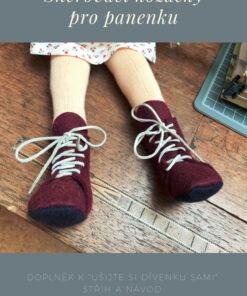 Kozačky pro dívenku, střih na botičky pro panenku