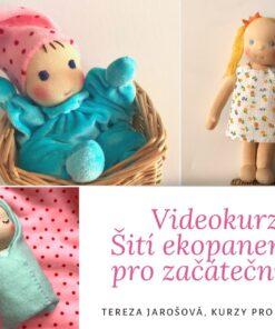 Online kurz šití panenek pro začátečníky, Videokurz šití ekopanenek pro začátečníky Sada materiálu k videokurzu š