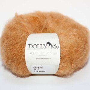 DollyMo Woolly Mohair Caramel, mohérová příze na vlásky