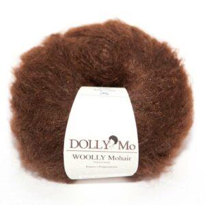 DollyMo, dark brown, tmavě hnědá příze Woolly Mohair, vlásky pro panenku
