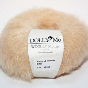 Woolly Mohair, DolllyMo, natural Blonde, plavá mohérová příze na vlásky panenky