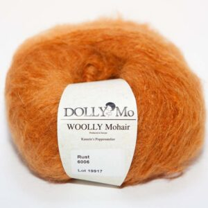 DollyMo, Woolly Mohair, rust, rezavá barva, mohérová příze, vlásky, vlasy na panenku