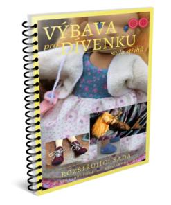 doplňková výbava pro panenku dívenku, sada střihů v pdf
