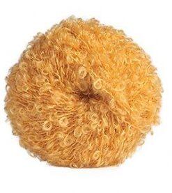 boucle blond žlutá příze na vlásky pro panenky