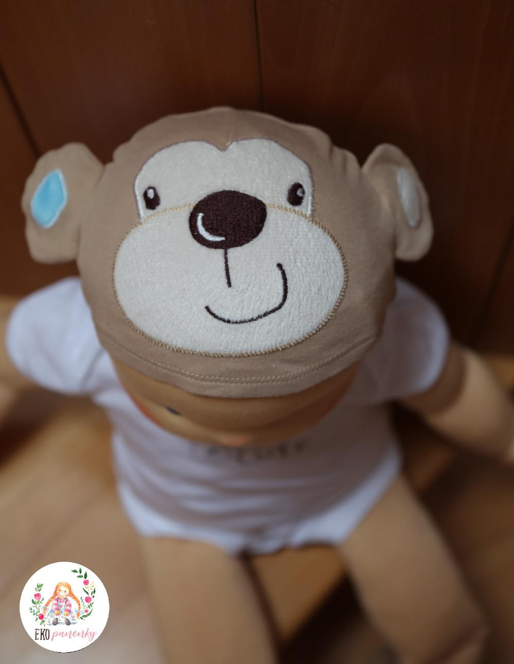 Roztomilouš - demo panenka pro profesionály, čepička s opicí