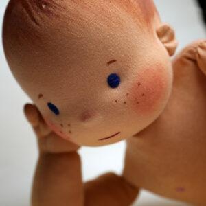 Fyziopanenka s pihami, 60 cm, plněná dutým vláknem. Ručně šitá panenky pro fyzioterapeuty