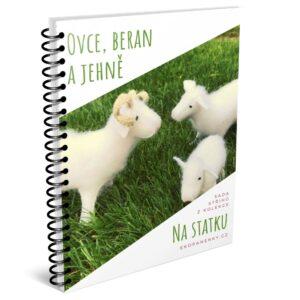 ovečka, beran a jehňátko, zvířátka z plsti, střih na ovečku z filcu