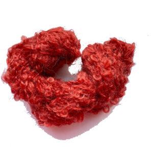 DollyMo boucle red příze na vlásky panenek