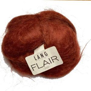 červenohnědá Lang Flair příze s dlouhými vlákny