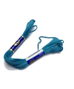vyšívací bavlnka, vyšívací příze mouline, světle modrá